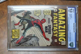 Authentic Fantasy 15 Comic Book Spiderman 12c 1962 Certified 2
