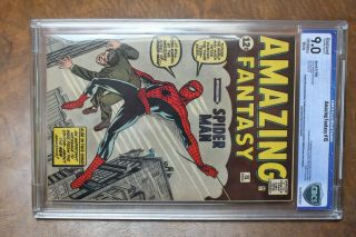 Authentic Fantasy 15 Comic Book Spiderman 12c 1962 Certified 4