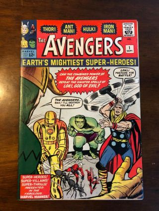 Avengers 1 Looking Book 1963 1st Avengers (iron Man Thor Hulk)