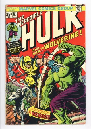 Incredible Hulk 181 Vol 1 Higher Grade 1st Wolverine W/ Marvel Stamp