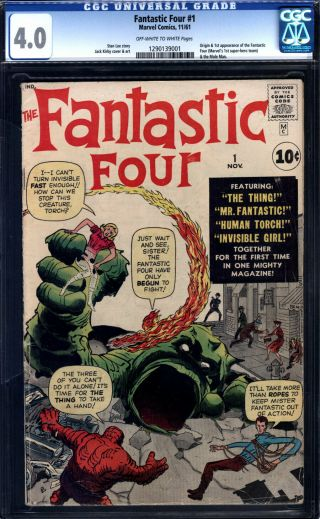 Fantastic Four 1 Cgc 4.  0 Ow/w Pages