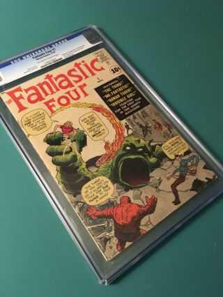 FANTASTIC FOUR 1 CGC 4.  0 OW/W PAGES 2