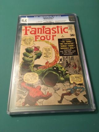 FANTASTIC FOUR 1 CGC 4.  0 OW/W PAGES 3