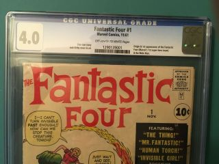 FANTASTIC FOUR 1 CGC 4.  0 OW/W PAGES 5