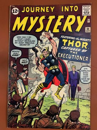 Journey Into Mystery Thor 84 Marvel Comics 1st Appearance Of Jane Foster
