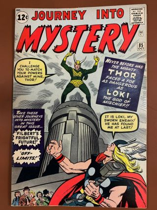 Journey Into Mystery Thor 85 Marvel Comics 1st Appearance Of Loki Silver Age