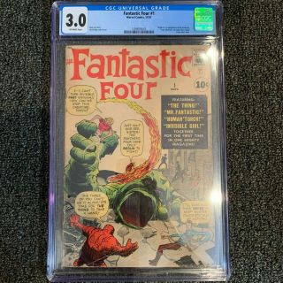 Fantastic Four 1 Cgc 3.  0 Off - White Pages 11/1961