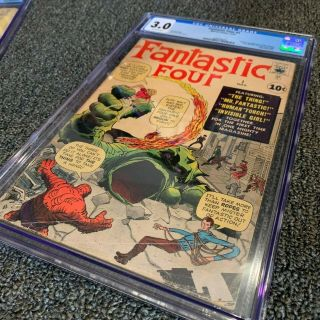 FANTASTIC FOUR 1 CGC 3.  0 OFF - WHITE PAGES 11/1961 3