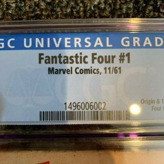 FANTASTIC FOUR 1 CGC 3.  0 OFF - WHITE PAGES 11/1961 4