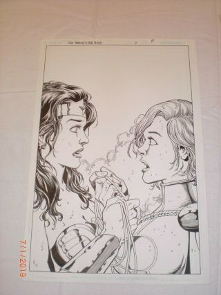 George Perez Art – The Brave And The Bold Issue 7 (year 2007),  Bondage