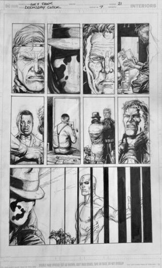 Gary Frank Doomsday Clock Comic Art 7 P21 Batman,  Watchmen,  Superman