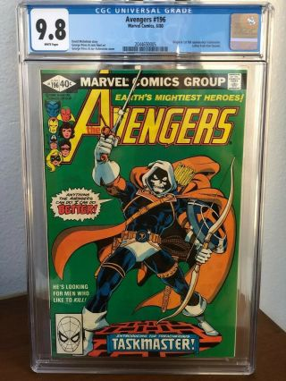 Avengers 196 1st Appearance Of The Taskmaster Cgc 9.  8 Snow Wp.  Hot Book