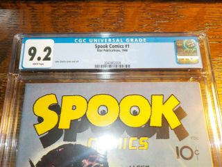 Spook Comics 1 1946 CGC 9.  2 Grade Comic Book 3