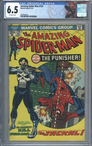 Spider - Man 129 Vol 1 Cgc 6.  5 Book 1st App Of The Punisher