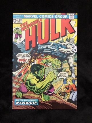 Incredible Hulk 180 With Marvel Value Stamp 1st App Wolverine Cameo.  (fn/vf).