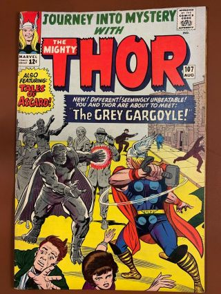 Journey Into Mystery Thor 107 Marvel Comics 1st Appearance Of The Grey Gargoyle