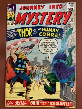 Journey Into Mystery Thor 98 Marvel Comics 1st Appearance Of Cobra Silver Age