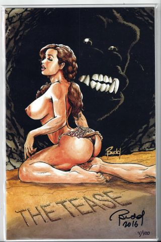 Cavewoman Freakin Yetis 1h,  Budd Root Cover,  Signed,  Nude,  Nm,  (2016)