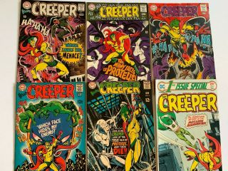 Beware The Creeper 1 2 3 4 5 & 1st Issue Special 7 Dc Comics Steve Ditko Vg - Fn
