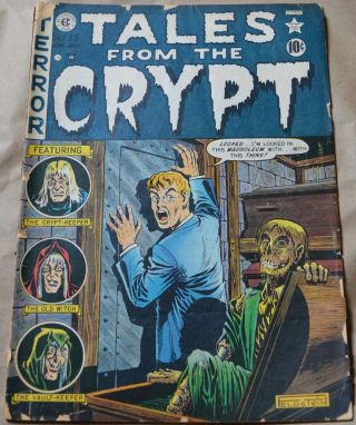 Tales From The Crypt 23 (ec,  1951) Classic Feldstein Cover.  Golden Age Horror