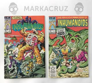 Inhumanoids Comics Issues 1 - 2 Star Comics/marvel - D.  Compose And Tendril Cover