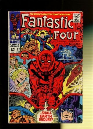 Fantastic Four 77 Vg 3.  5 1 Book Shall Earth Endure By Stan Lee & Jack Kirby