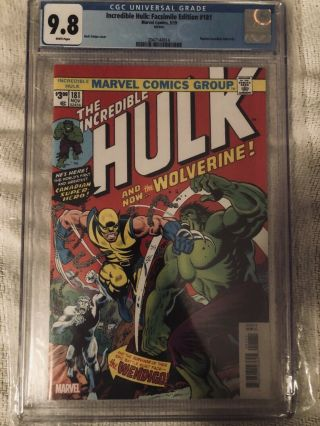 The Incredible Hulk 181 (facsimile Edition) Cgc 9.  8