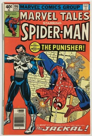 Marvel Tales 106 Vf Aug 1979 Bronze Age Spider - Man 129