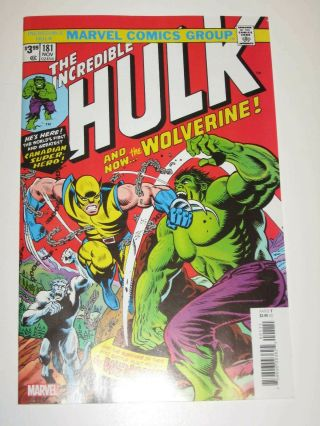 Incredible Hulk 181 1st Wolverine 1st Print Marvel Facsimile Edition
