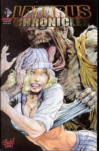 Lazarus Chronicles 1 Budd Root Variant Zombie Cavewoman Rob Durham Nm