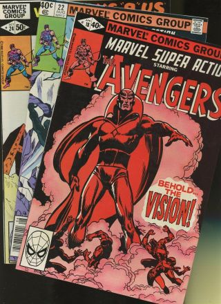 Marvel Action 18,  22,  24 3 Books Behond The Vision Reborn & Hawkeye