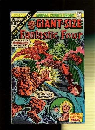 Giant - Size Fantastic Four 6 Vg 3.  5 1 Book Annihilus Stan Lee & Jack Kirby