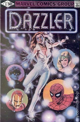 Dazzler 1a 1981 Corrected Variant Fn Stock Image