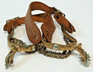 Vintage Antique Brass Western Spurs From Ranch Located In Kansas Founded In 1888