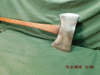 Vintage Double Edged Axe Stamped Mann Lewistown Pa.  True American Antique Tool