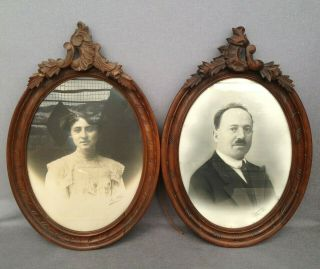 Big Antique French Wood Picture Frames Early 1900