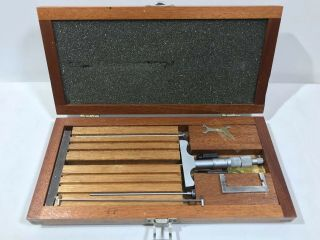 """Brown And Sharpe 608 Machinist Depth Micrometer 0 """" To 1 """" Go No Go"""