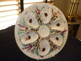 Antique Union Porcelain (upw) Round Oyster Plate