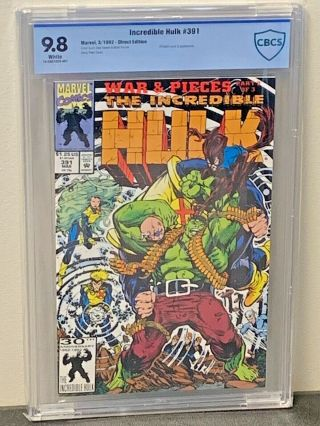 Incredible Hulk 391 9.  8 Highest Graded White Pgs Marvel Comics 1992 Cgc Cbcs