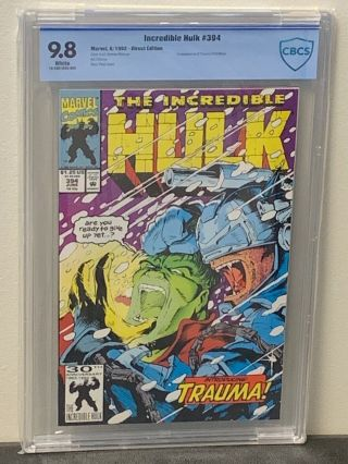 Incredible Hulk 394 9.  8 Highest Graded? White Pgs Marvel Comics 1992 Cgc Cbcs