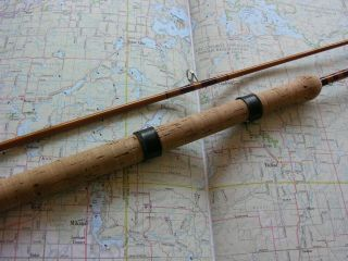 "Paul Young Bamboo Casting Rod 7 Ft.  6in.  2/1,  5.  5oz.  "" Cast Master """