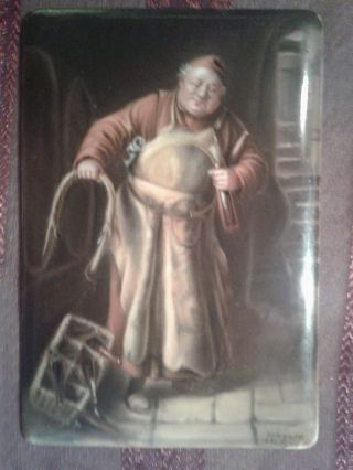 Signed By Wagner Hutschenreuther Plaque Kpm Berlin Porcelain Hand Paint