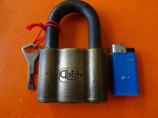 Old Antique Padlocks From Abloy Finland Old High Security Padlock Lock Key