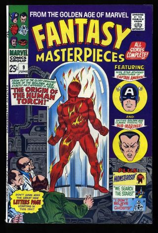 Fantasy Masterpieces 9 Fn/vf 7.  0 (reprints Human Torch From Marvel Comics 1)