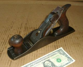 "Vintage Stanley Sw Heart Wood Plane,  No.  5 - 1/4 Unmarked,  A.  11 - 1/2 "" X 1 - 3/4 "" Cutter"