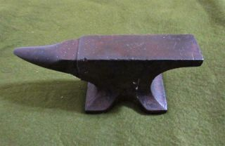 "Antique Solid Wrought Blacksmith Anvil 3 1/2 Lbs,  6 3/4 "" Long"