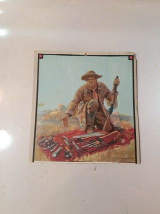 """Antique Winchester Cardboard In Store Calendar """" The Old Winchester Trader """""""