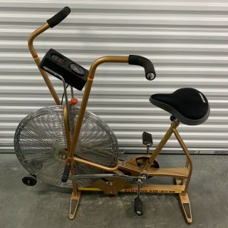 Vintage Gold Schwinn Airdyne Exercise Bike Broken Ergometer.  Local Pick Up