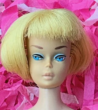 Vintage Barbie Low Color Pale Blonde American Girl Doll Head All