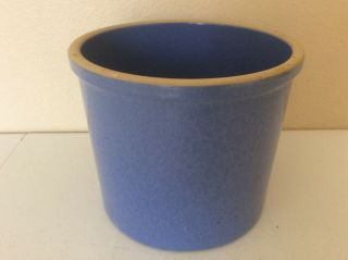 Vintage Western Stoneware Robins Egg Blue One Gallon Crock 5005
